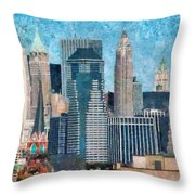 City - Ny - A Touch Of The City Throw Pillow