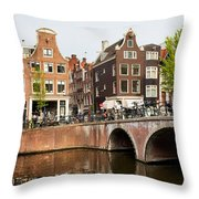 City Of Amsterdam In Holland Throw Pillow