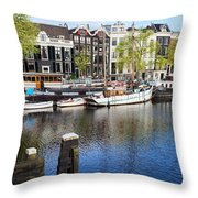 City Of Amsterdam River View Throw Pillow