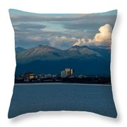 City Of Anchorage  Throw Pillow
