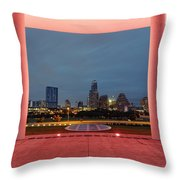City Of Austin Framed Throw Pillow