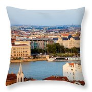 City Of Budapest Cityscape Throw Pillow