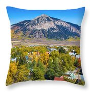 City Of Crested Butte Colorado Panorama   Throw Pillow