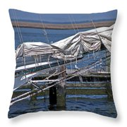 City Of Crisfield Throw Pillow
