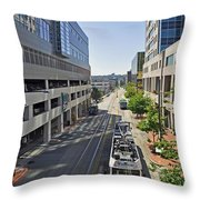City Of Destiny Throw Pillow