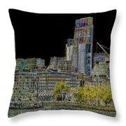 City Of London Art Throw Pillow