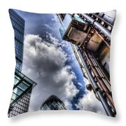City Of London Iconic Buildings Throw Pillow
