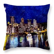 City Of Pittsburgh At The Point Throw Pillow