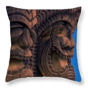 City Of Refuge Tiki Gods Throw Pillow