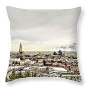 City Of Reykjavik  Throw Pillow