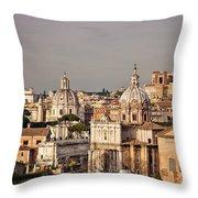 City Of Rome At Dusk Throw Pillow