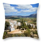City Of Ronda In Spain Throw Pillow