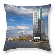 City Of Rotterdam In Netherlands Throw Pillow