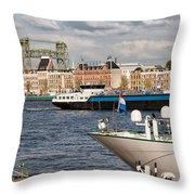 City Of Rotterdam Urban Scenery Throw Pillow