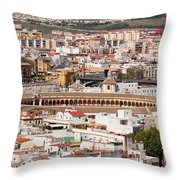 City Of Seville Cityscape In Spain Throw Pillow