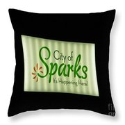City Of Sparks Throw Pillow