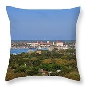 City Of St Augustine Florida Throw Pillow