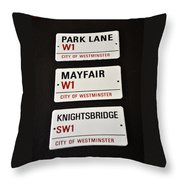 City Of Westminster Throw Pillow