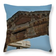 City Of Wood Throw Pillow
