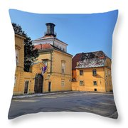 City Of Zagreb Historic Upper Town Throw Pillow