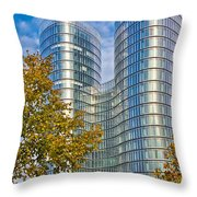 City Of Zagreb Modern Architecture Throw Pillow