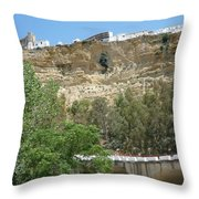 City On A Cliff Throw Pillow