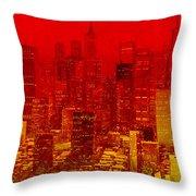 City On Fire Throw Pillow