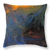 City On Mars Throw Pillow