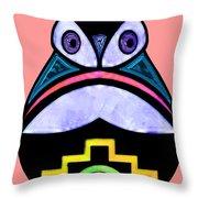 City Owl Throw Pillow