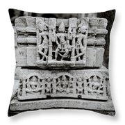 City Palace Apsara Dancers Throw Pillow
