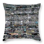 City Park City Art Throw Pillow