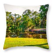 City Park New Orleans Throw Pillow