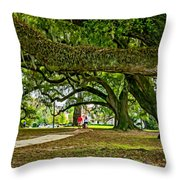City Park Stroll 2 Throw Pillow