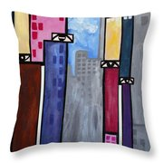 City People Throw Pillow