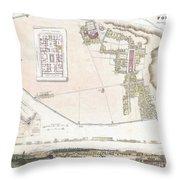 City Plan Or Map Of Pompeii Throw Pillow