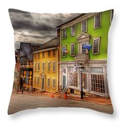 City - Providence Ri - Thomas Street Throw Pillow