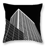 City Relief Throw Pillow