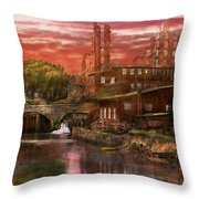 City - Richmond Va - After The Fighting Stopped - 1865 Throw Pillow
