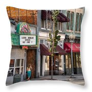 City - Roanoke Va - Down One Fine Street  Throw Pillow by Mike Savad