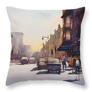 City Shadows Throw Pillow