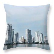 City Skyline, Castillogrande Throw Pillow