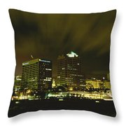 City Skyline With Milwaukee Art Museum Throw Pillow