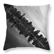 City Slope  Throw Pillow