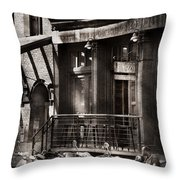 City - South Street Seaport - Bingo 220  Throw Pillow by Mike Savad