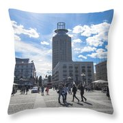 City Square In Stockholm Throw Pillow