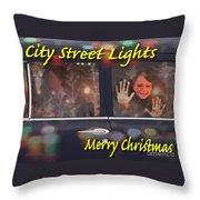 City Street Lights Throw Pillow