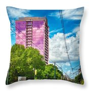 City Streets Of Charlotte North Carolina Throw Pillow