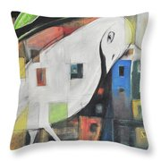 City Strut Throw Pillow