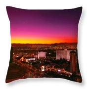 City - Vegas - Ny - Sunrise Over The City Throw Pillow