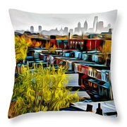 City View Five Throw Pillow